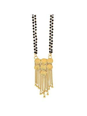 Awww DM-M-171 Golden Women Mangalsutra Set