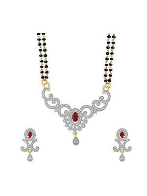 Awww DM-M-193 Golden Women Mangalsutra Set