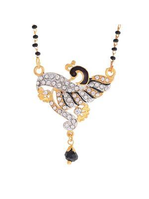 Awww DM-M-266 Golden Women Mangalsutra Set