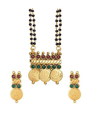 Awww DM-M-282 Golden Women Mangalsutra Set