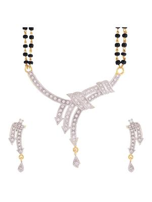 Awww DM-M-298 Golden Women Mangalsutra Set