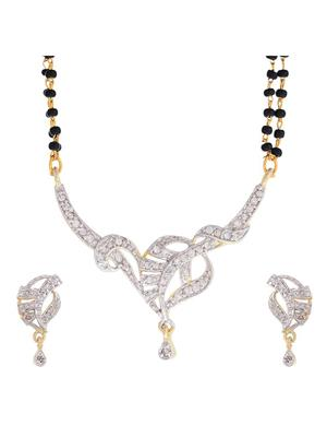 Awww DM-M-41 Golden Women Mangalsutra Set