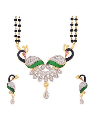 Awww DM-M-50 Golden Women Mangalsutra Set