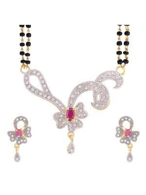Awww DM-M-59 Golden Women Mangalsutra Set
