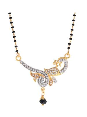 Awww DM-M-694 Golden Women Mangalsutra Set