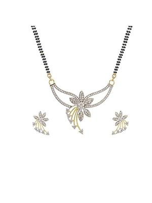 Awww DM-M-79 Golden Women Mangalsutra Set