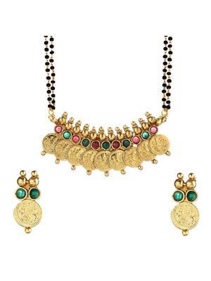 Awww DM-M-88 Golden Women Mangalsutra Set