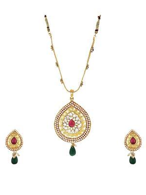 Awww Dm-Ns-305 Golden Women Necklace Set