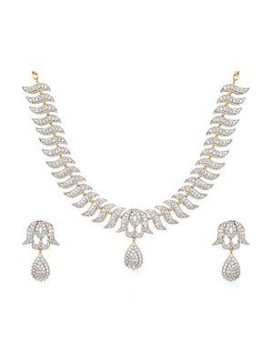 Awww Dm-Ns-582 Golden Women Necklace Set