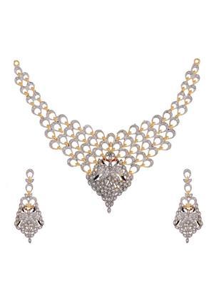 Awww Dm-Ns-613 Golden Women Necklace Set