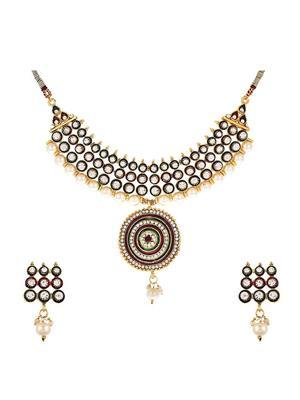 Awww Dm-Ns-644 Golden Women Necklace Set