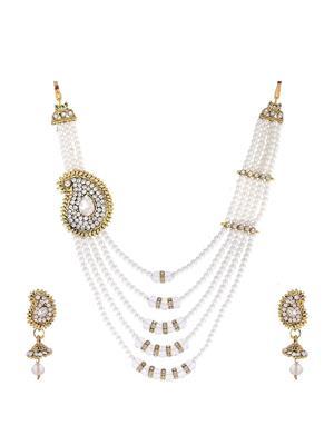 Awww Dm-Ns-89 Golden Women Necklace Set