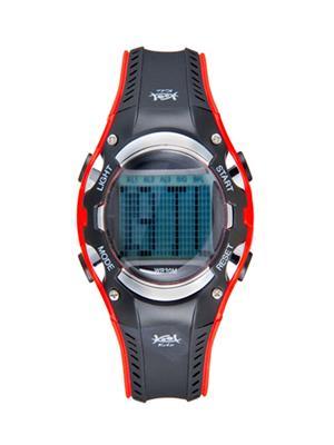 Kool Kidz Dmf-024 H-Rd Grey Kids Watch