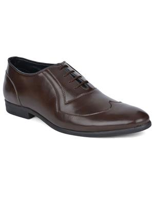 DaMochi DMF106 Brown Formal Shoes