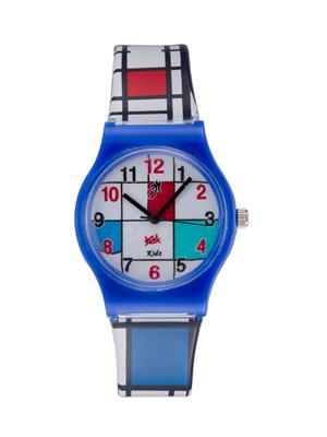 Kool Kidz Dmk-003-Gr 01 Blue-White Kids Watch