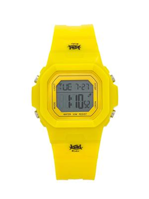 Kool Kidz Dmk-016-Bl01 Yellow Kids Watch
