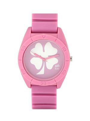 Kool Kidz Dmk-020-Rd 01 Pink Kids Watch