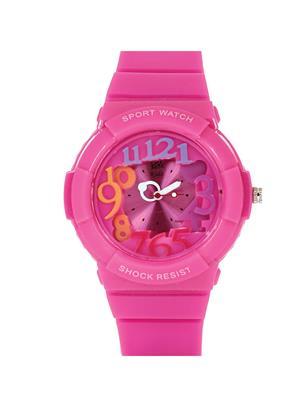 Kool Kidz Dmk-021-Pk 01 Pink Kids Watch
