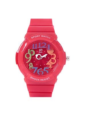 Kool Kidz Dmk-021-Rd 01 Red Kids Watch