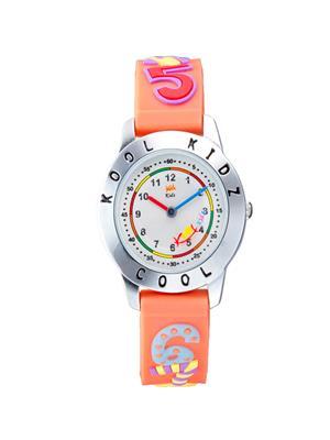 Kool Kidz Dmk-025 H-Bk Silver Kids Watch