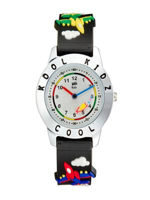 Kool Kidz Dmk-026 H-Rd Silver Kids Watch