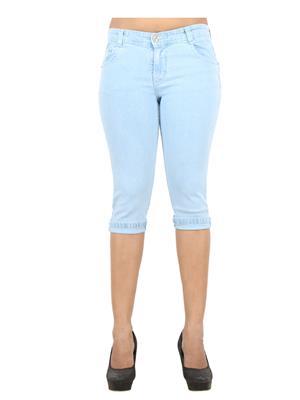 EBONY- nx DNo12_IWLB Blue Women Capri