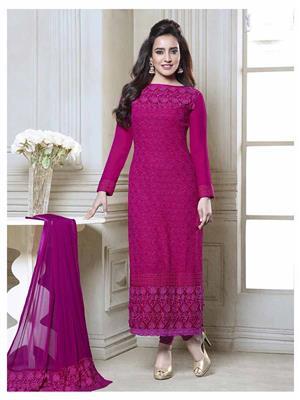Fiona D.No.2601 Pink Women Salwar Suit