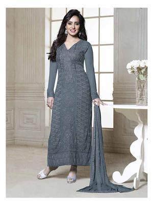Fiona D.No.2607 Grey Women Salwar Suit