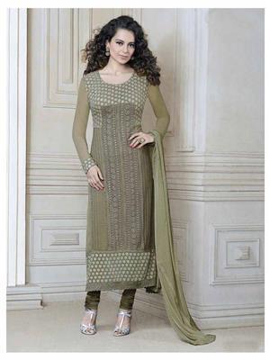 Fiona D.No.2609 Brown Women Salwar Suit
