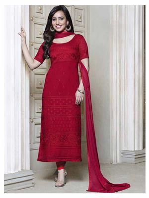 Fiona D.No.2610 Red Women Salwar Suit