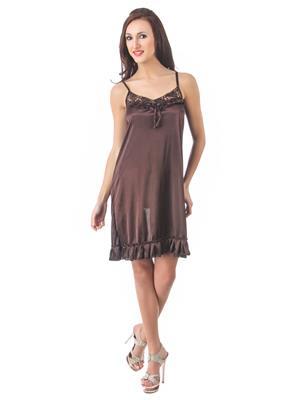 Fasense Dp080 B Brown Women Night Wear