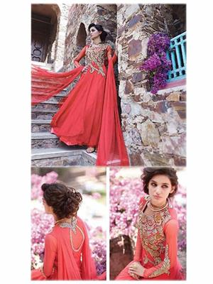 Angelic Lady DR148 Tomato Red Women Gown
