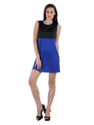 Eleganz21 DRS1007 Black And Blue Women Dress