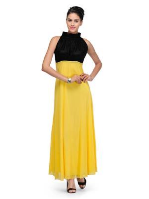 Eleganz21 DRS1026 Yellow Women Dress