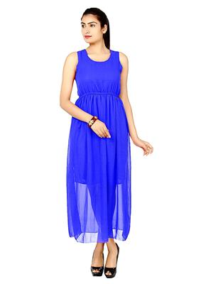 Eleganz21 DRS1059 Blue Women Dress