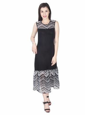 Abhinav Fashion Drs1099Blk Black Women Dresses