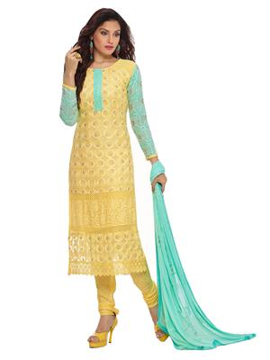 Shreeji Fashion DRS452-1866 Yellow Women Dress Material