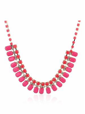 DressVilla DV-N115 Pink Women Necklace