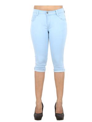 EBONY- nx Dno5555_IWLB4 Blue Women Capri