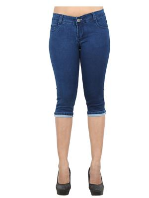 EBONY- nx Dno5555_dx1 Blue Women Capri