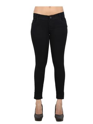 EBONY-nx Dno_anklezip Black Women Jeans