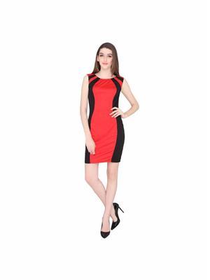 ELLIANA EBR054 Red Women Dresses