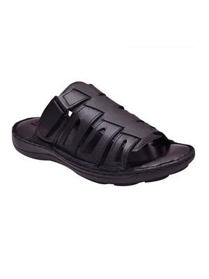 Enzo Cardini Ec1788Blk Black Men Sandals