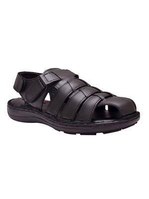 Enzo Cardini Ec9171Blk Black Men Sandals