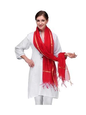 Enchanted Drapes EDKRDPL Red Women Dupatta