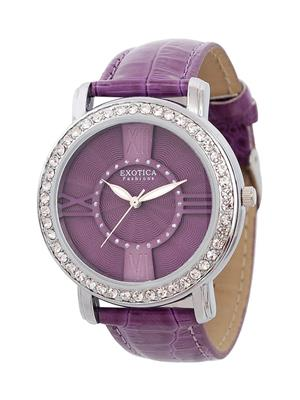 Exotica Fashions  EF-70-I-Purple-DM Women Wrist Watch