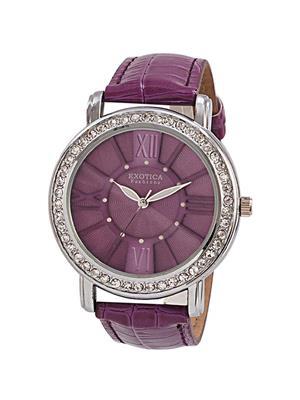Exotica Fashions  EF-70-Purple Women Wrist Watch