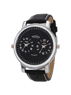 Exotica Fashions  EF-87-Dual Black Men Wrist Watch