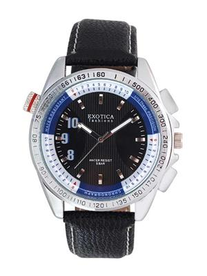 Exotica Fashions  EFG-11-LS-Black-Blue Men Wrist Watch