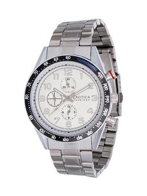 Exotica Fashions  EFG-S-07-ST White Men Wrist Watch